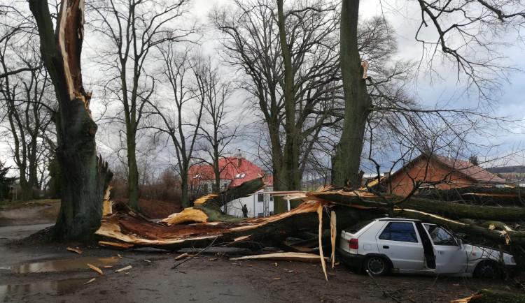 Vichřice Sabine na Liberecku