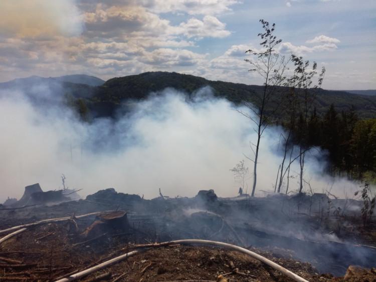 Požár u Malé Skály