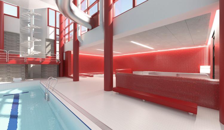 Vizualizace libereckého bazénu